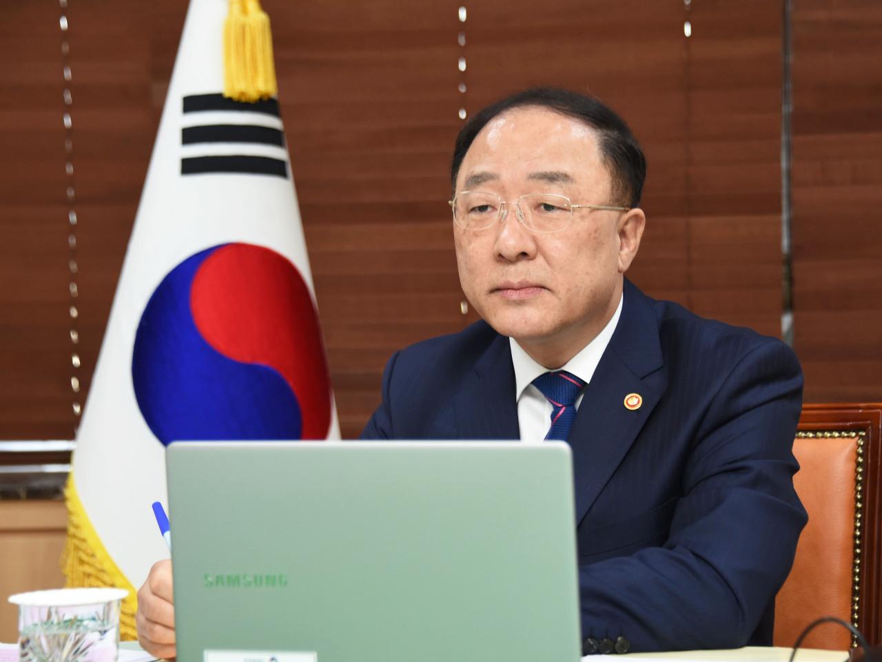 Finance Minister Hong Nam-ki. (Yonhap)