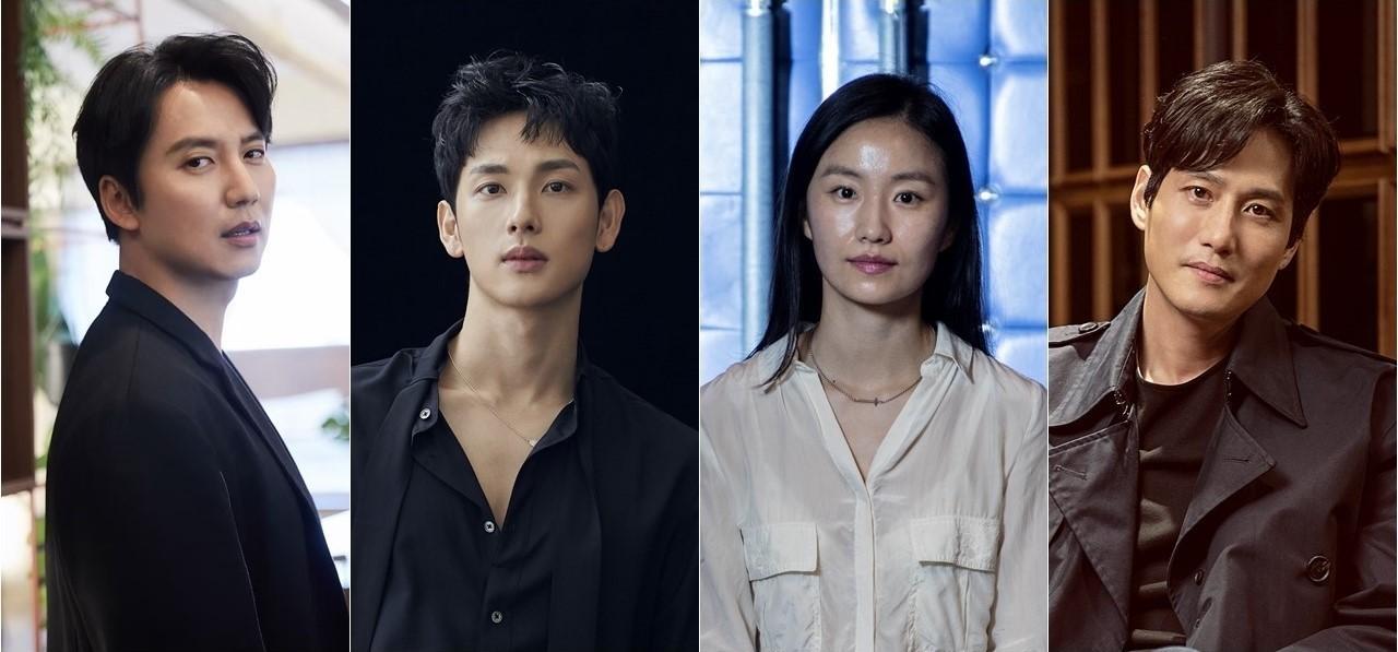 (From left) Kim Nam-gil (CJes Entertainment), Im Si-wan (Plum A&C), Kim So-jin (LG Arts Center) and Park Hae-jun (PLEO ent)