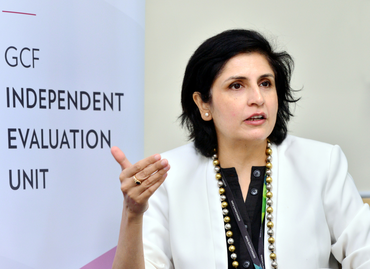 Jyotsna Puri, head of the Green Climate Fund's Independent Evaluation Unit (Park Hyun-koo/The Korea Herald)