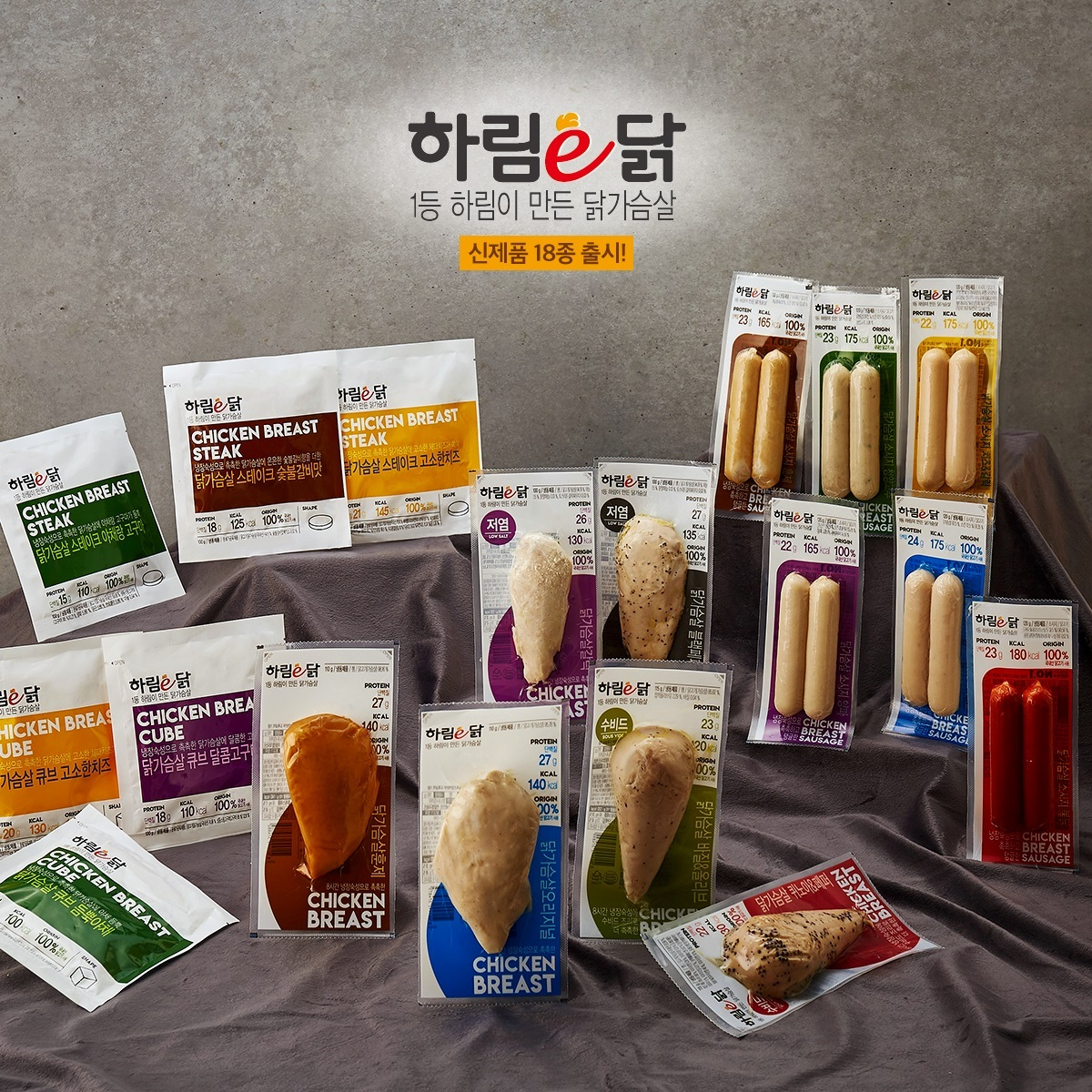 Chicken breast products by Harim (Harim)