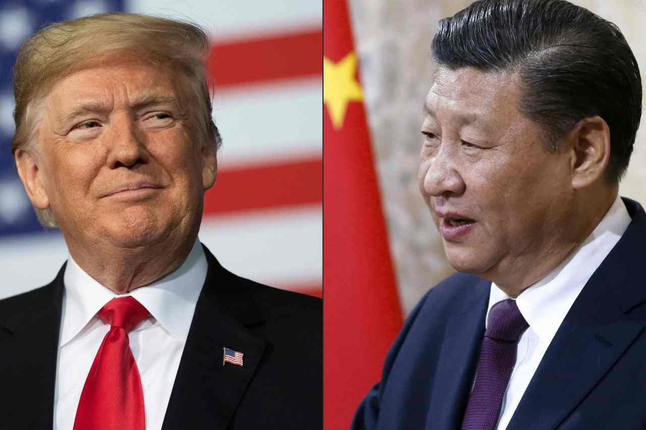 US President Donald Trump (L) and Chinese President Xi Jinping (R) (AFP-Yonhap)