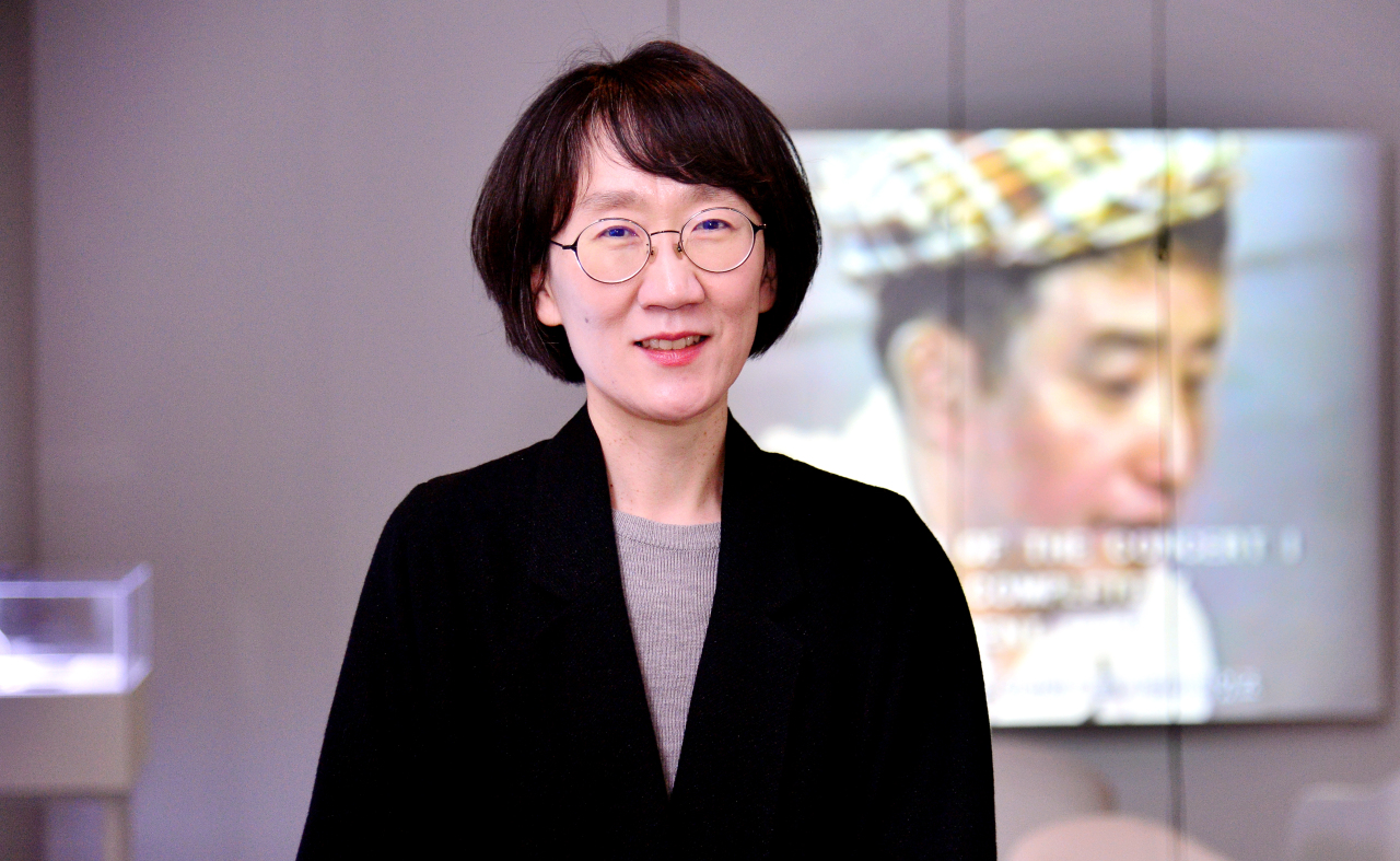 Kim Seong-eun, Director at Nam June Paik Art Center, poses at the art center. (Park Hyun-koo/The Korea Herald)