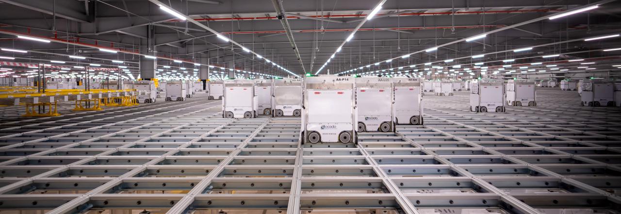 Ocado Erith Customer Fulfillment Center in Erith, UK (Ocado Solutions)