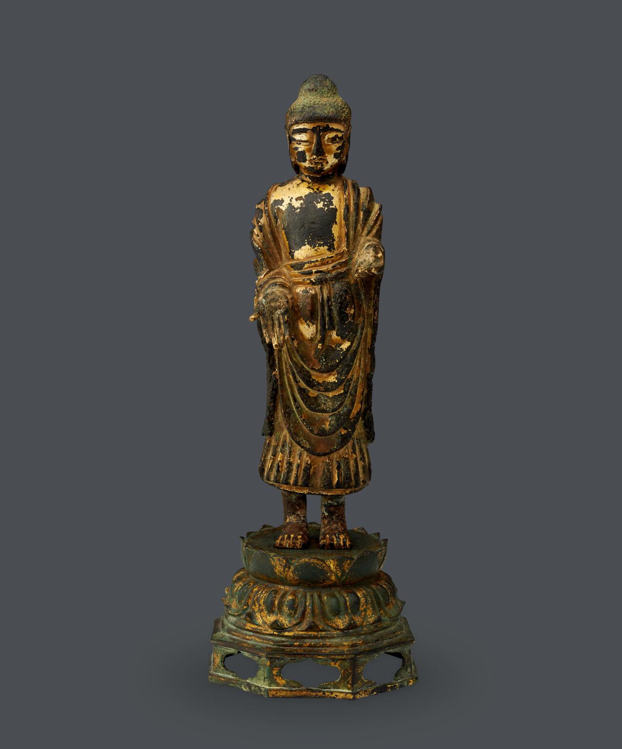 """Treasure No. 284, """"Gilt-bronze Standing Buddha"""" (K-Auction)"""