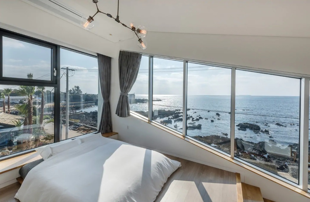 View from Jang House in Jeju that made the top 10 wish list for beachside housing (Airbnb)