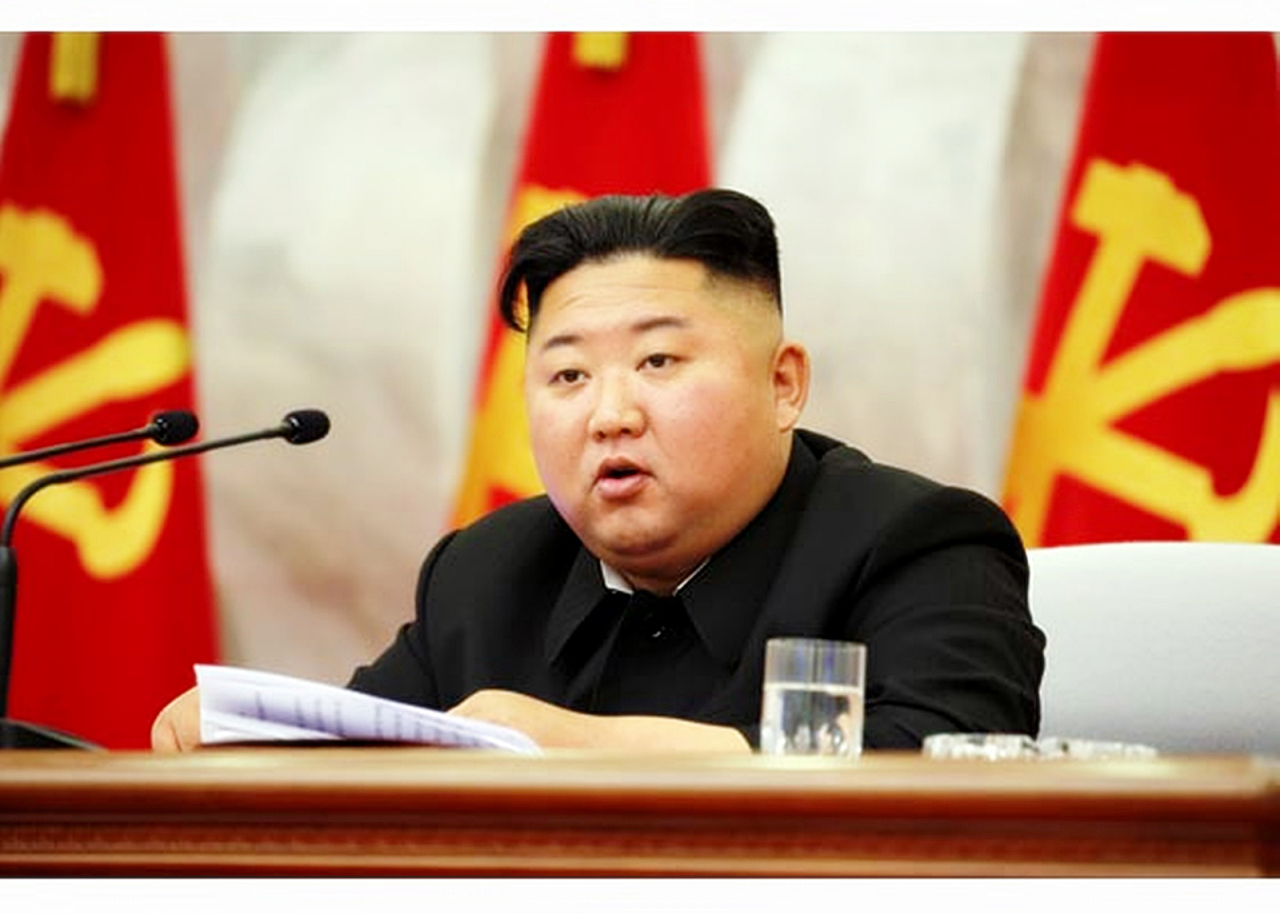 North Korean leader Kim Jong-un presided over a Central Military Commission meeting, according to North`s state media outlets on Sunday. (Rodong Sinmun-Yonhap)