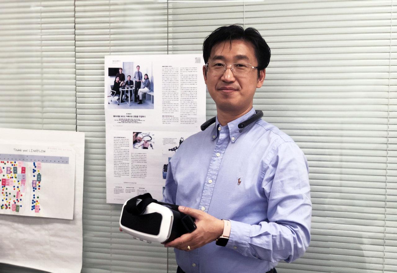 Founder and CEO Kim Yong-kuk (Park Ga-young/The Korea Herald)