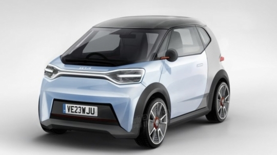 A rendering image of Kia Motors Europe's micro electric vehicle (Auto Express)