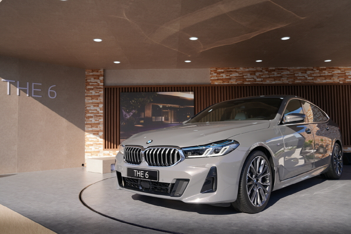 The new 6 Series model displayed at the BMW Driving Center in Incheon on Wednesday. (BMW Korea)