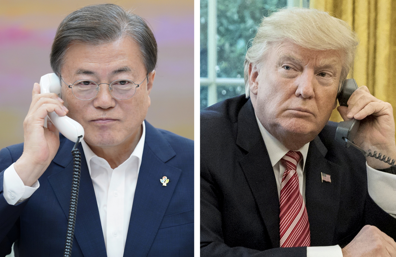 President Moon Jae-in and US President Donald Trump. (Cheong Wa Dae)