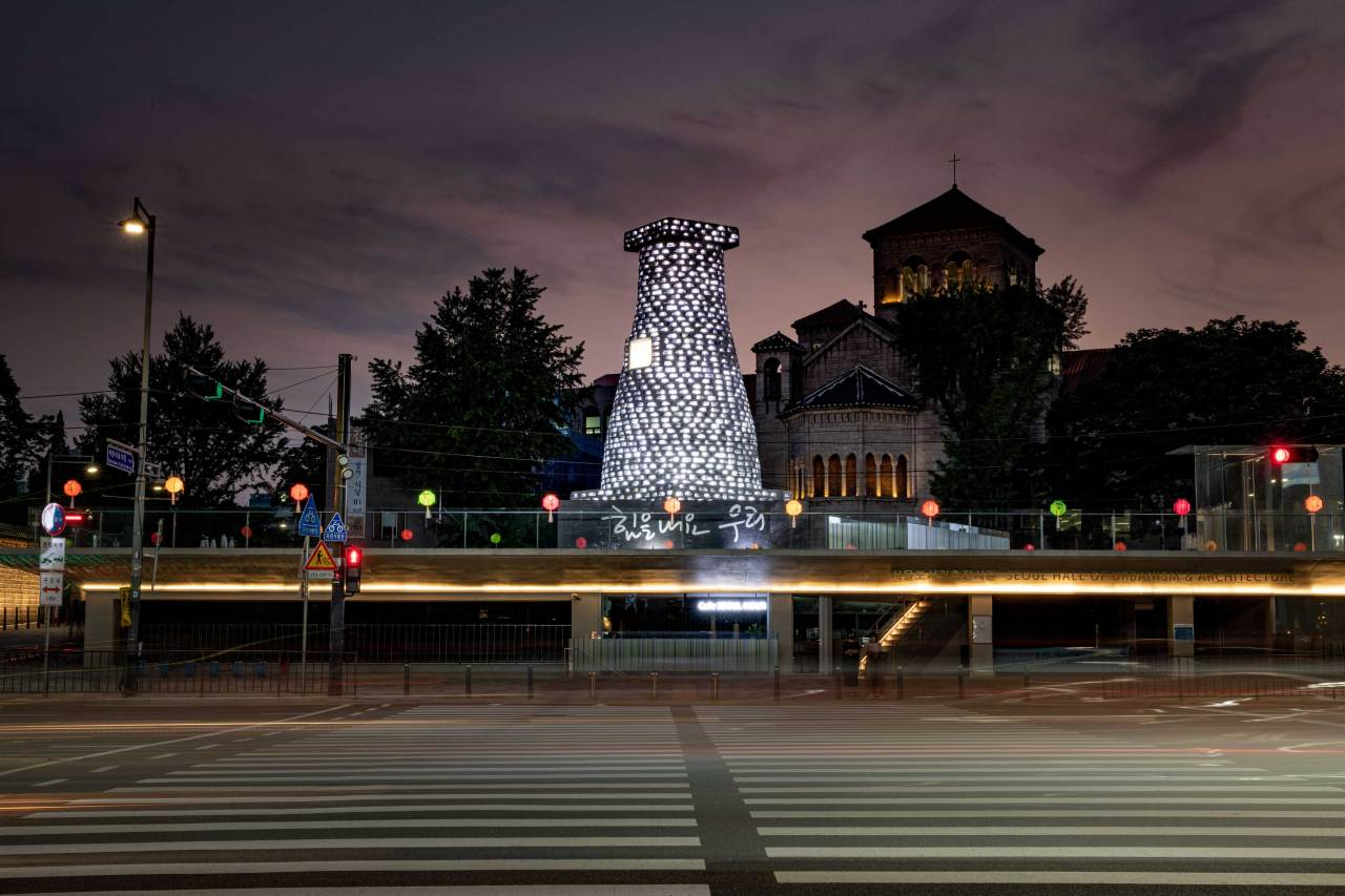 """Rebirth"" by installation artist Han Won-suk (Seoul Hall of Urbanism and Architecture)"