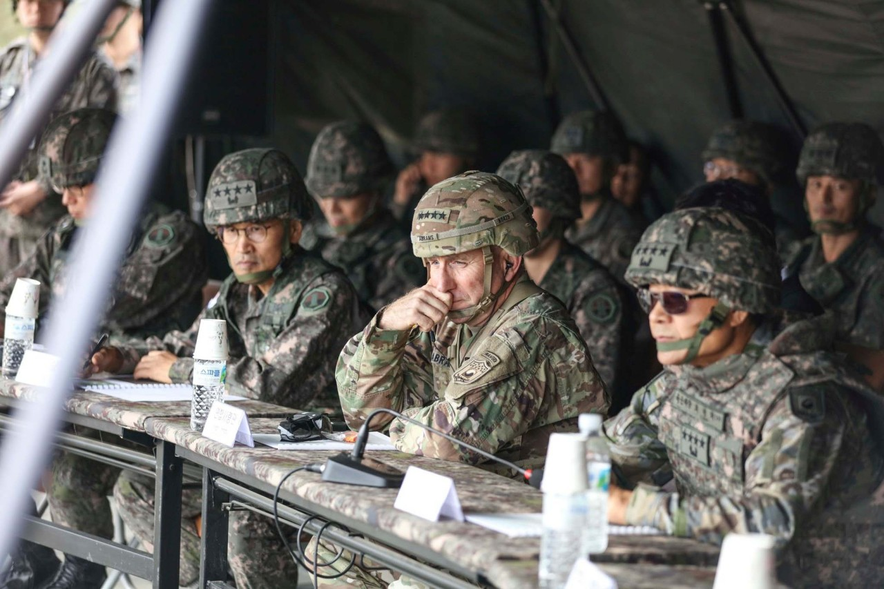 (Screenshot captured from the USFK's Facebook page-Yonhap)