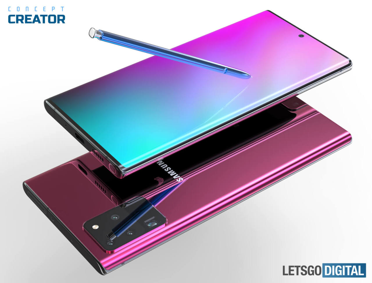 Galaxy Note 20 render (LetsGo Digital https://nl.letsgodigital.org/smartphones/samsung-galaxy-note-20-plus/)