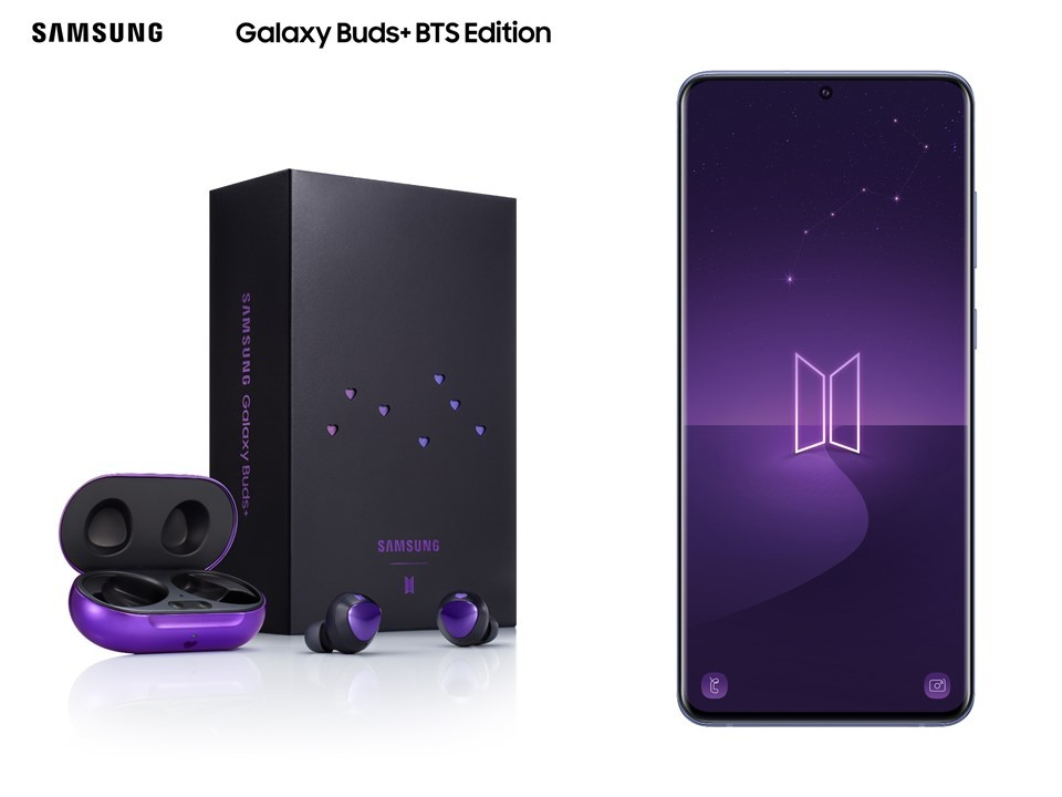 BTS Editions of the Galaxy S20+ and Galaxy Buds+ officially unveiled