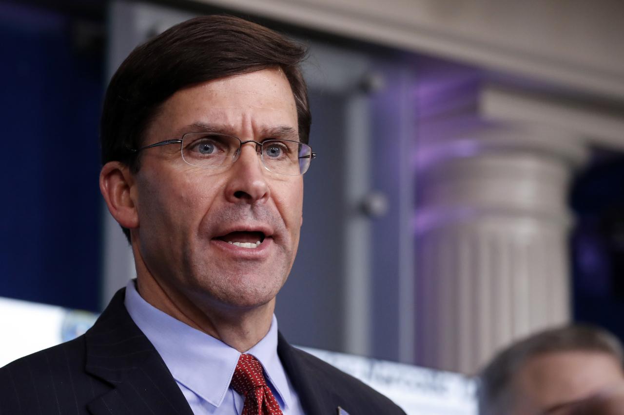 US Defense Secretary Mark Esper (AP-Yonhap)