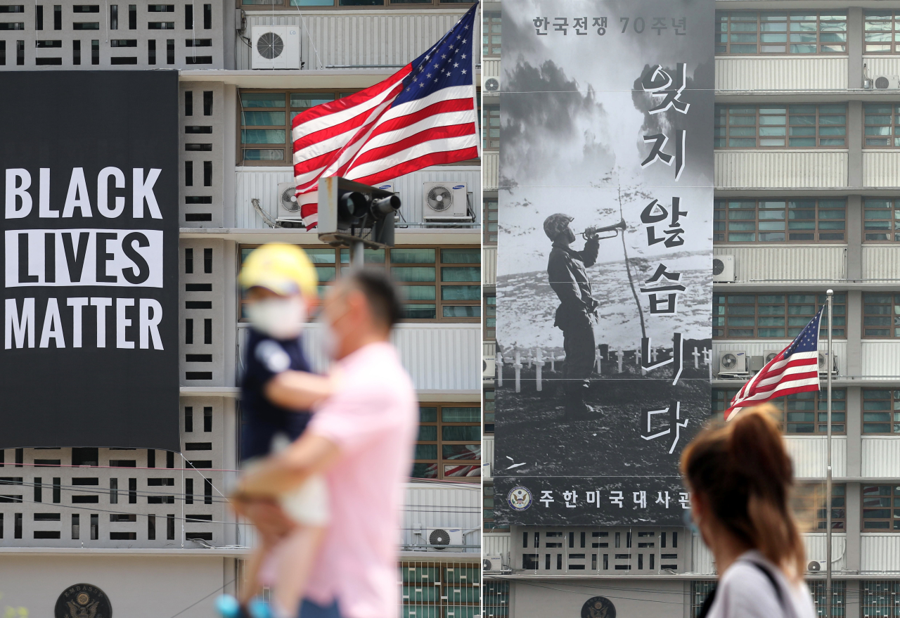 'BLM' Banner Removed From Seoul Embassy