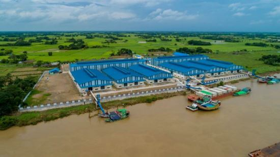 Posco International's rice processing plant located on the side of the Twante waterway in Myanmar (Posco International)