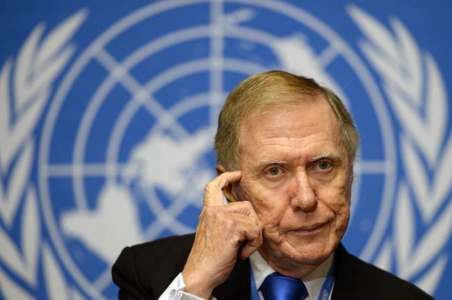 Michael Kirby, former chairman of the UN Commission of Inquiry (COI) on Human Rights in North Korea (AFP-Yonhap)