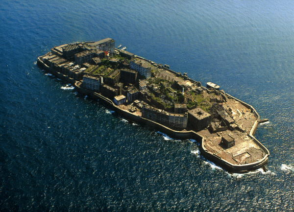 Hashima Island is located 15 kilometers from the city of Nagasaki, southern Japan.