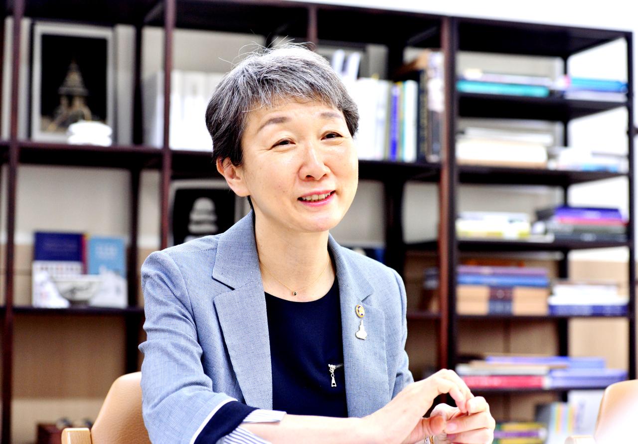 Cultural Heritage Administration head Chung Jae-suk (Park Hyun-koo/The Korea Herald)