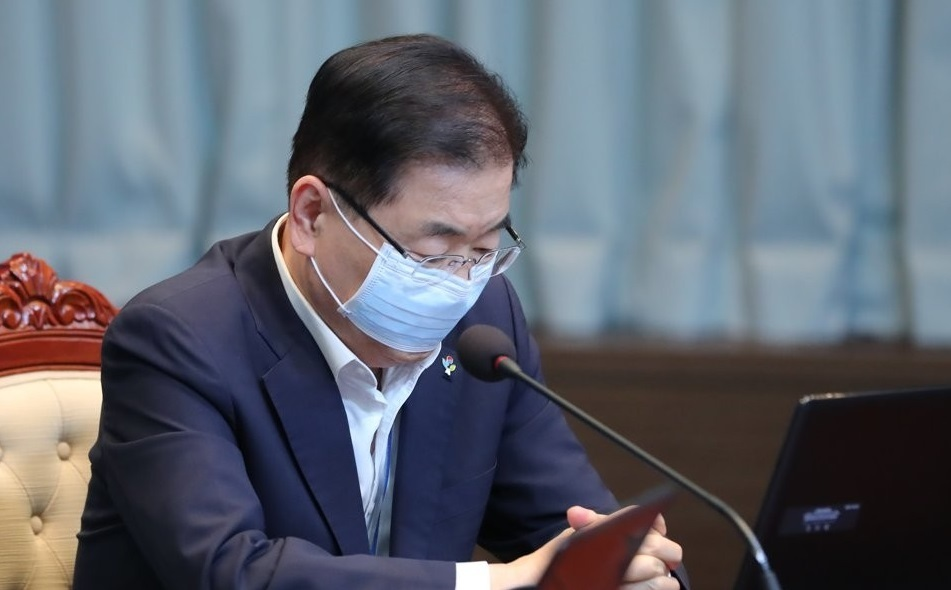 Chung Eui-yong, director of Cheong Wa Dae`s national security office, in a file photo. (Yonhap)