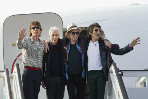 Members of The Rolling Stones:(from left) Mick Jagger, Charlie Watts, Keith Richards and Ron Wood (AP-Yonhap)