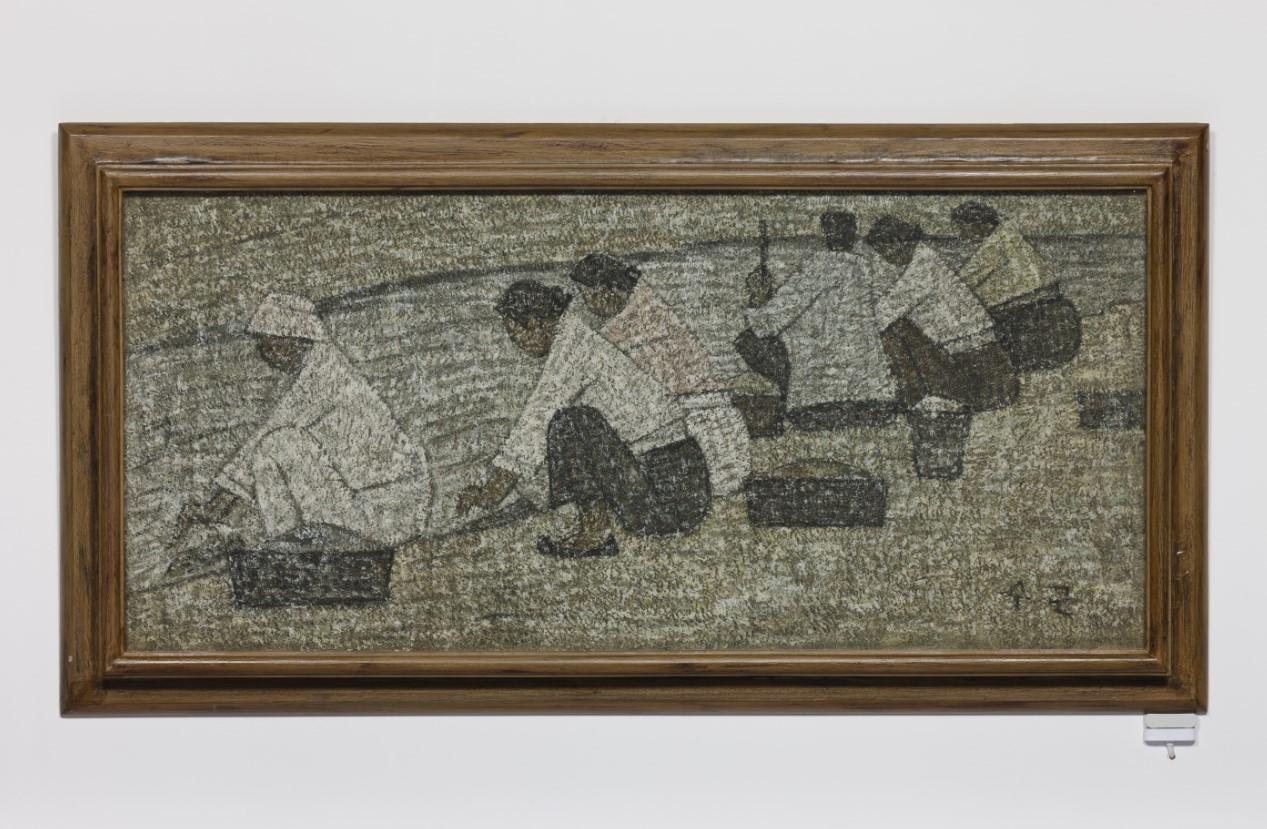 """""""Washerwomen by the Stream"""" by Park Soo-keun (Park Soo Keun Museum)"""