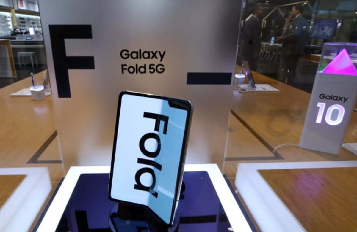 Tech giant Samsung Electronics' 5G foldable smartphone Galaxy Fold. (Yonhap)