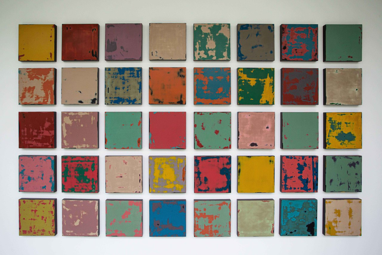"""""""Overlaid"""" series by Kim Deok-han displayed at Lee Ungno Museum (Courtesy of the artist)"""