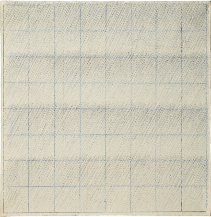 """Ecriture No.6-67"" by Park Seo-bo; one of his early pencil Ecriture series (Courtsey of the artist)"