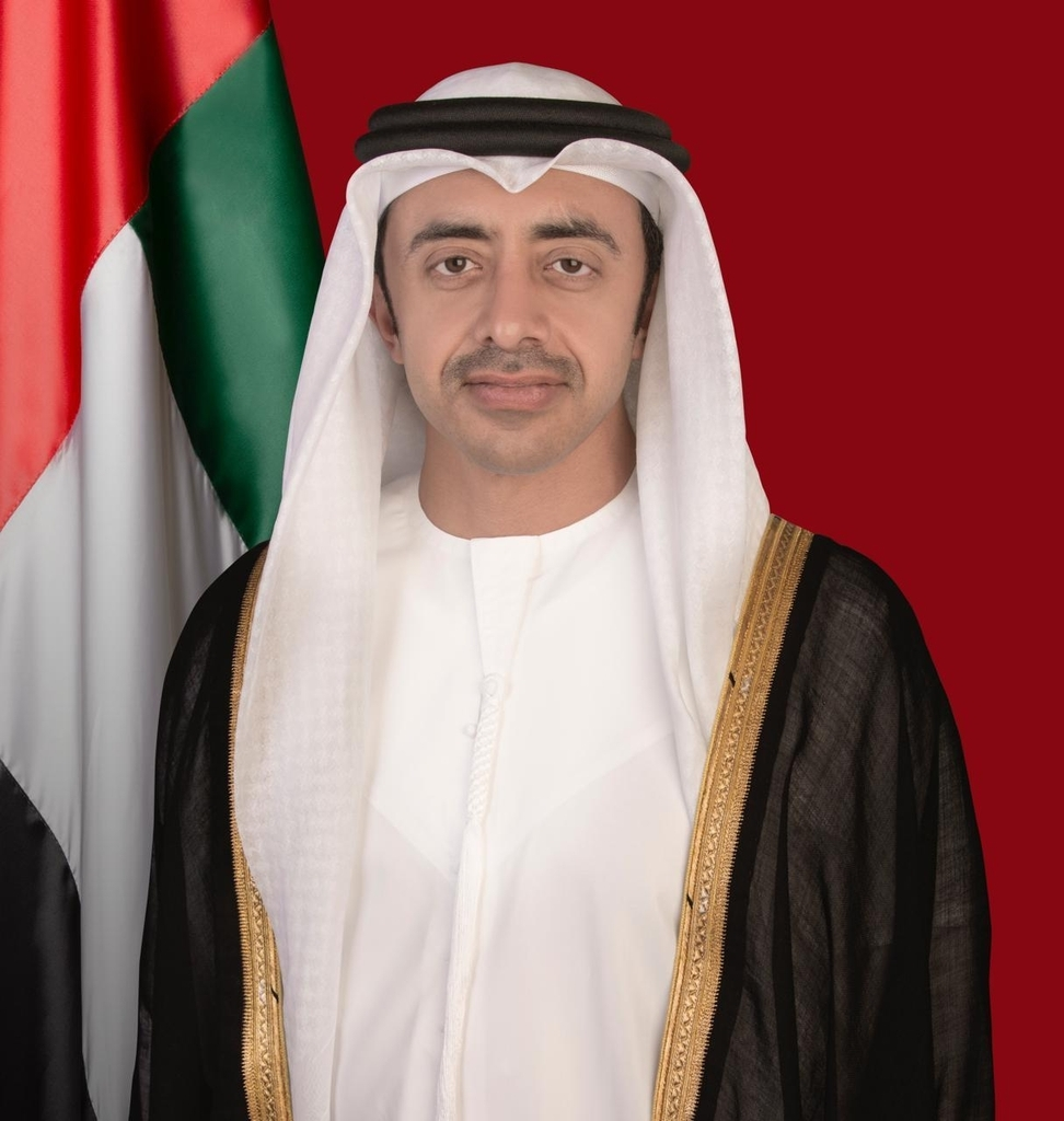Minister Sheikh Abdullah bin Zayed Al Nahyan (UAE Ministry of Foreign Affairs and International Cooperation-Yonhap)