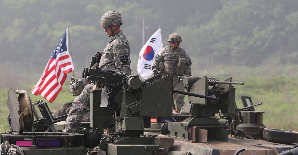 Joint military exercises (Yonhap)