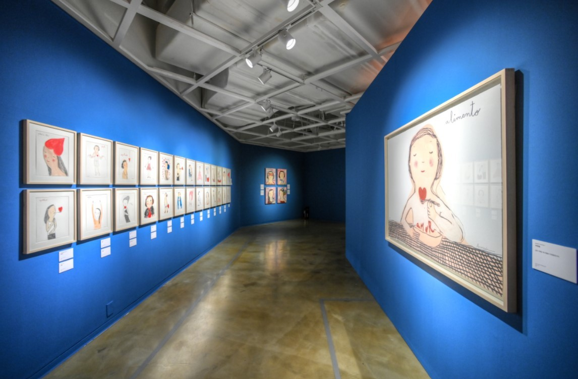 "Installation view of ""Eva Armisen Vida"" at the Sejong Center for the Performing Arts in Gwanghwamun in central Seoul (Sejong Center)"