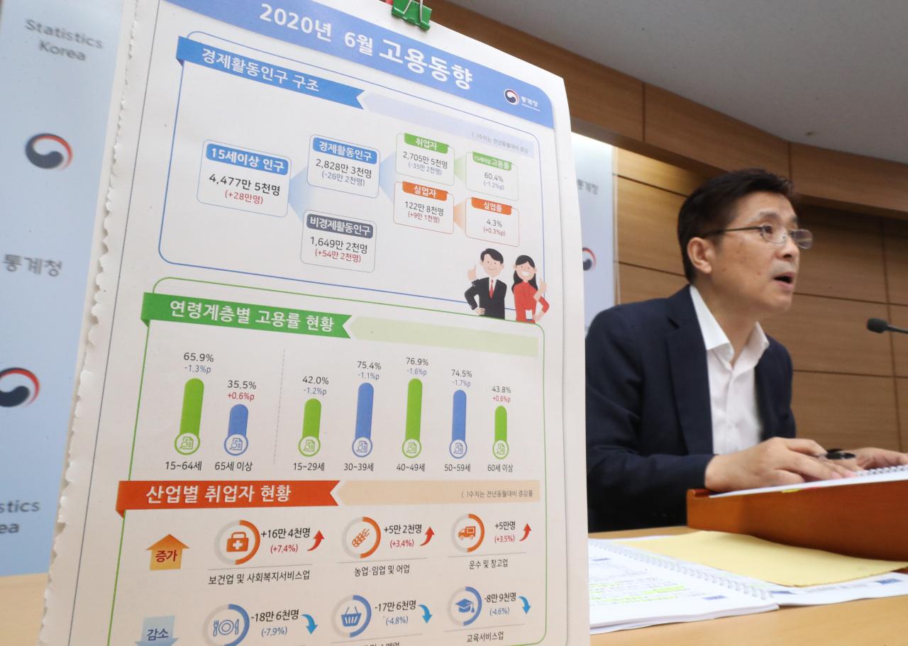 Chung Dong-myung, director for social statistics at Statistics Korea. (Yonhap)