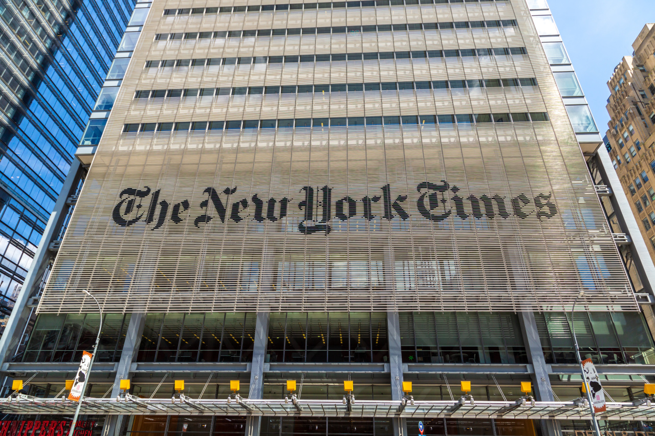 The New York Times headquarters in New York (123rf)