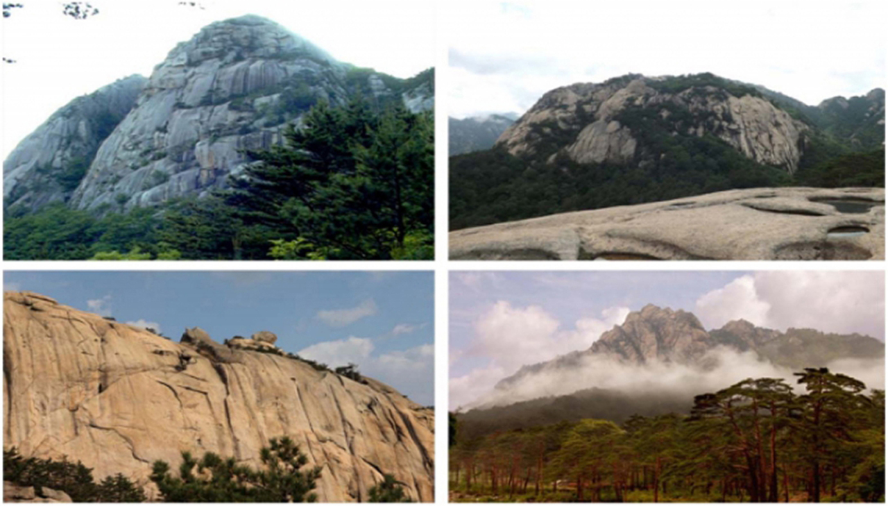 Pictures of Kumgangsan posted on the Kumgangsan International Travel Company's website.(Yonhap)