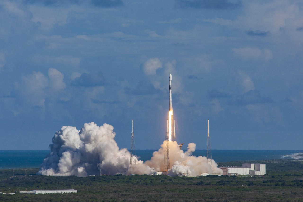 South Korea launches its first independent military communication satellite, Anasis-II, from the Kennedy Space Center in Florida, on July 20, 2020. (Defense Acquisition and Program Administration)