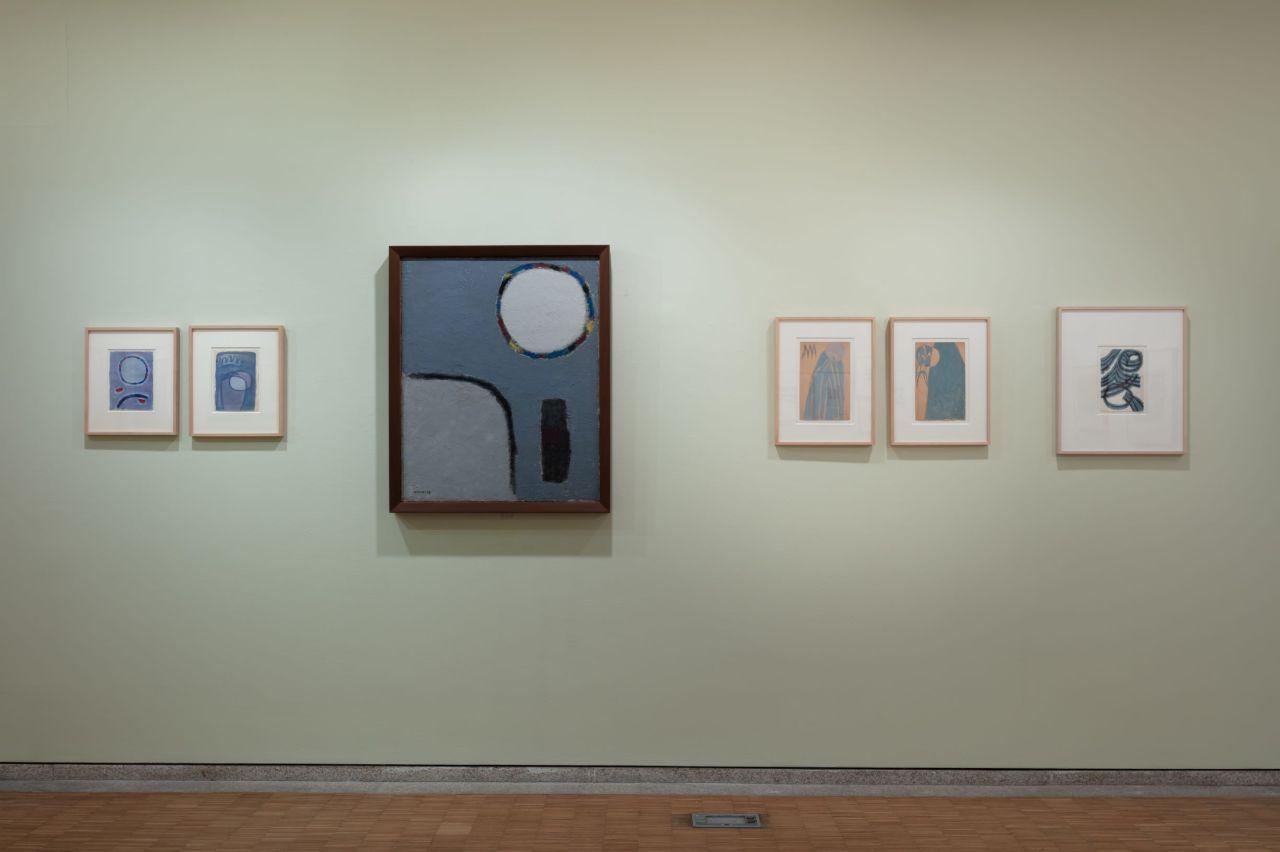 """Installation view of """"The Poetics of Kim Whanki"""" at Whanki Museum in central Seoul (Whanki Foundation/Whanki Museum)"""