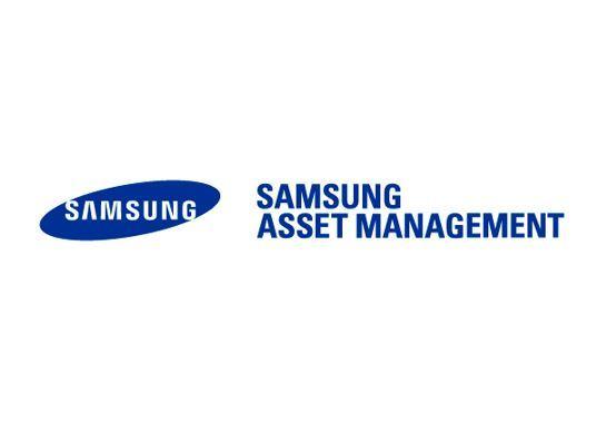 A logo of Samsung Asset Management