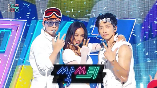 "Ssak 3 on MBC's ""Show! Music Core"" on Saturday. (MBC)"
