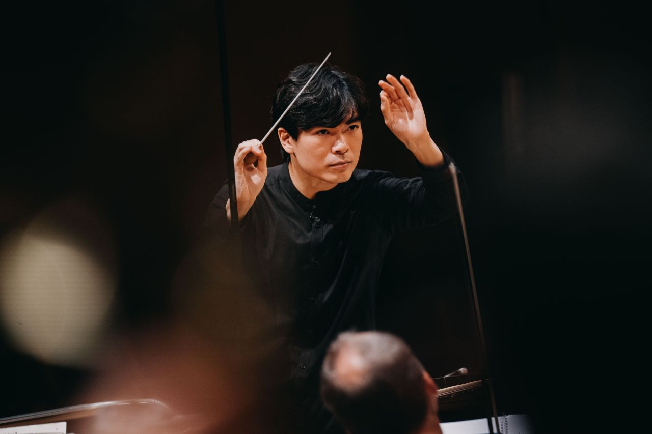 SPO associate conductor Wilson Ng leads the Bamberg Symphony at the 2020 Mahler Competition held earlier this month in Bamberg, Germany. (Bamberg Symphony)