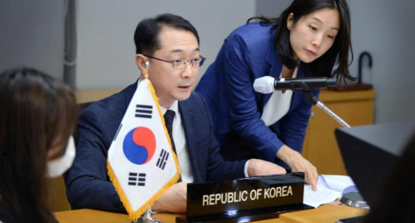 South Korean Deputy Foreign Minister Kim Gunn. Diplomats from Asia-Pacific countries held videoconferences as part of the Senior Officials' Meetings of three regional dialogue platforms on July 20 and Tuesday. (Yonhap)