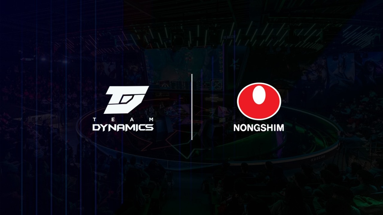 The logos of Nongshim and Team Dynamics are posted on social media after Nongshim acquired Team Dynamics. (Facebook)