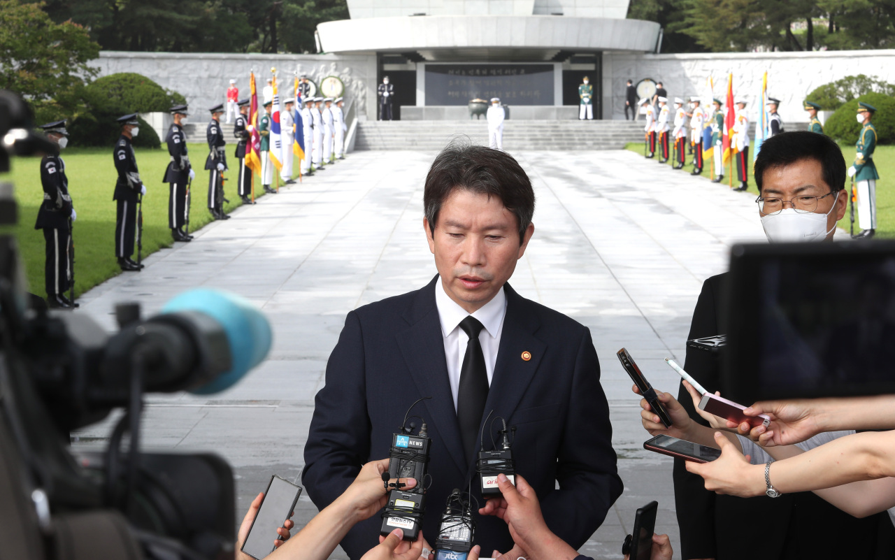 Unification Minister Lee In-young (Yonhap)