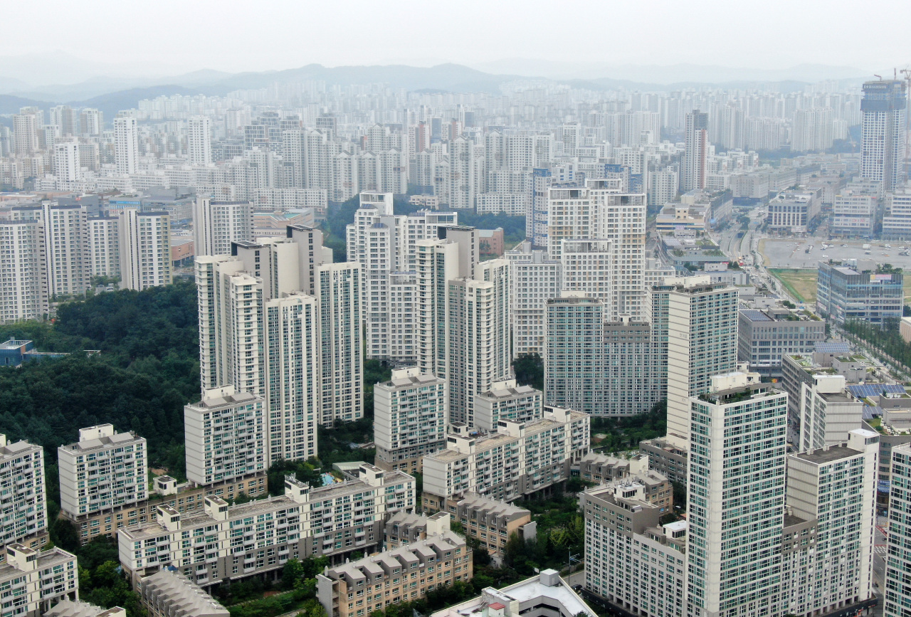 A view of Sejong self-governing city, south of Seoul. The city has been gaining attention after ruling party politicians have again started discussions into making Sejong the new administrative capital of South Korea. (Yonhap)