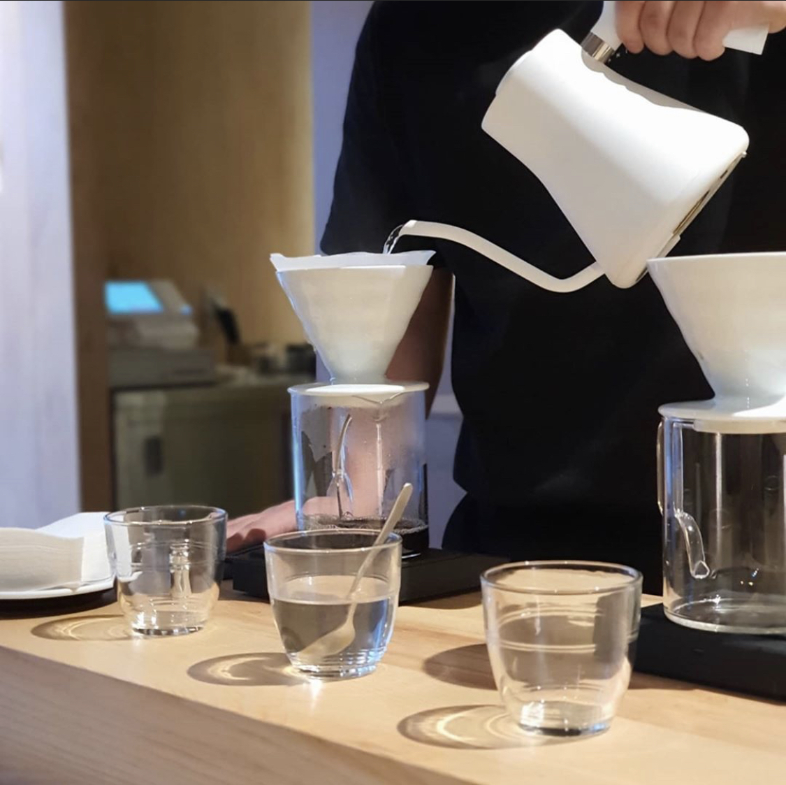 At Danil Seoul, all pour-over coffee is agitated during the extraction process. (Danil Seoul)