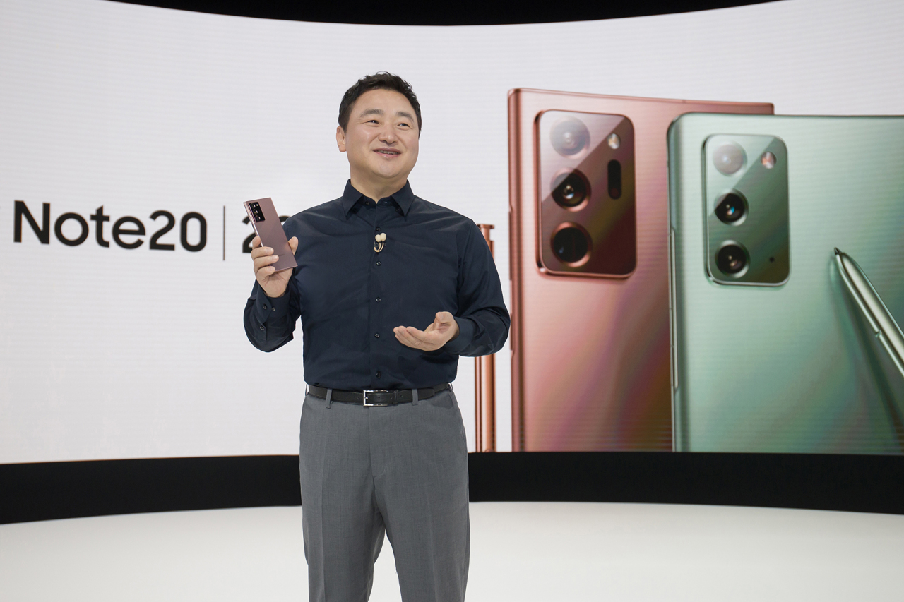 Samsung President Roh Tae-moon introduces Galaxy Note 20 lineup on Wednesday. (Samsung Electronics)