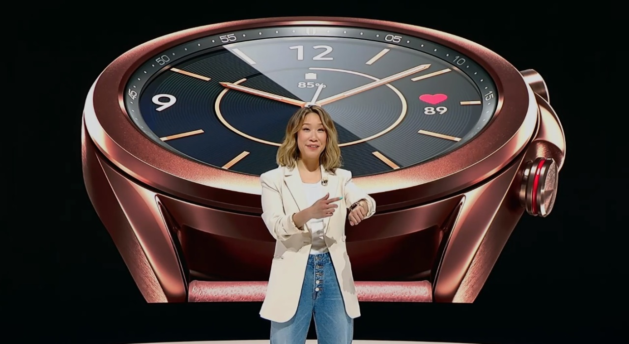 Galaxy Watch 3 is presented during the online Galaxy Unpacked on Wednesday. (By Lim Jeong-yeo /The Korea Herald)