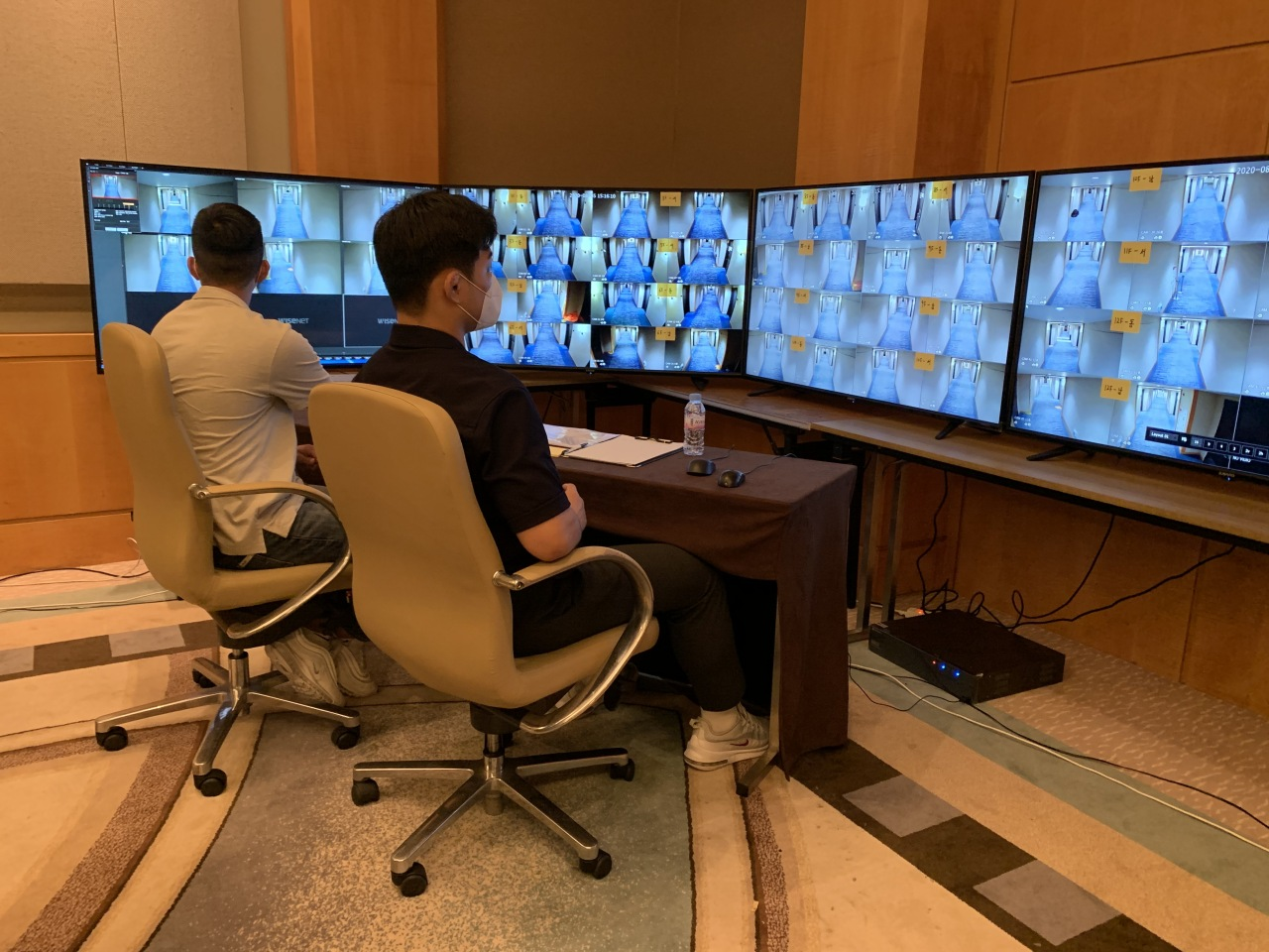 In the situation room, military officials work round the clock in two-hour shifts and monitor the hallways to make sure there are no quarantine breaches.