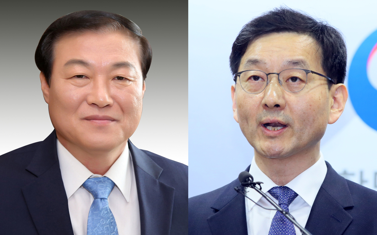 Chung Man-ho (left) and Yoon Chang-yul. Yonhap